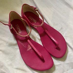 Michael Kors fuchsia Pink Sandals sz 8